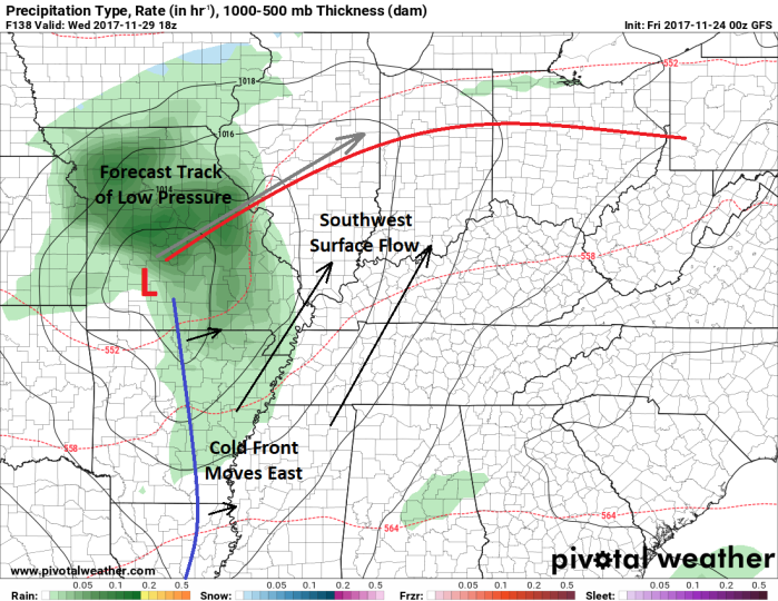 GFS Surface Model - Valid Wednesday - pivotalweather.com