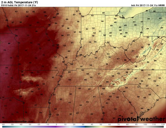 HRRR Model Forecast High Temperatures - Valid 3 PM - pivotalweather.com