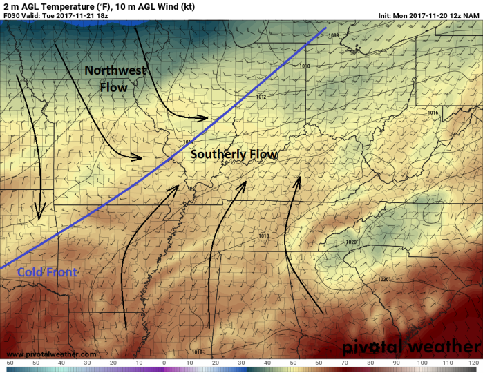 NAM Surface Model - Valid Noon Tuesday - pivotalweather.com