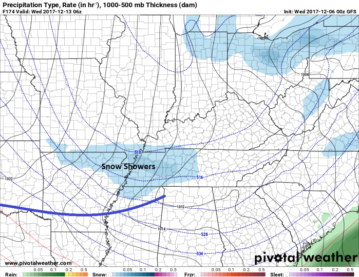 GFS Surface Model - Valid Tuesday Evening - pivotalweather.com