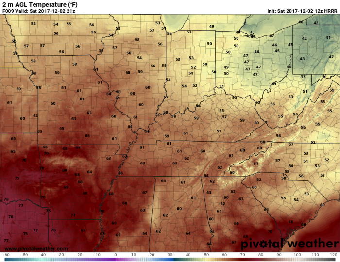 HRRR Model Forecast High Temps - pivotalweather.com
