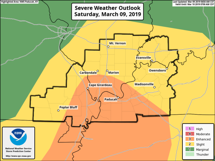 NWS SPC Severe Weather Outlook