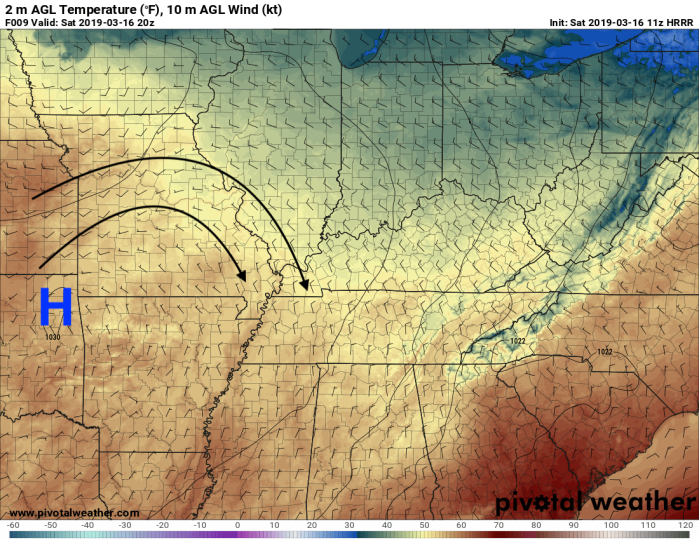HRRR Model Surface Analysis - Valid 3 PM - Pivotalweather.com